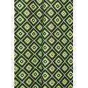 Bavlna streč zelené vzory