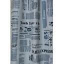 Dekorační látka noviny fototisk