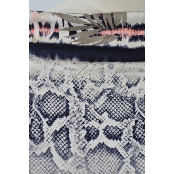 Úplet hadí vzor s květy - Látky Král - Látky metráž 486243fb94b