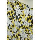 Šatovka žlutočerné geometrické vzory