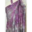 Batika fialovošedá s lurexovým vzorem