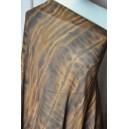 Látka na šaty hnědé vzory