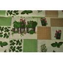 Bavlněná látka  patchwork s kytkami