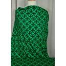 Úplet s černým vzorem, zelená barva
