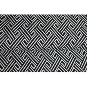 6e3ef3e9492e Úplet s černobílým vzorem - Látky Král - Látky metráž