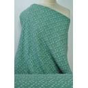 Bavlněná dvojitá fáčovina zelená se vzorem