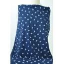 Modrý batist se spirálkou