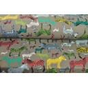 Teplákový úplet se zebrami