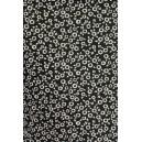 Černá bavlna s bílou kytičkou