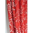 Bavlněná látka červená s větvičkami