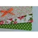 Balíček růžovozelený - 3x50cm