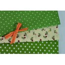 Balíček látek zelený - 30x50cm