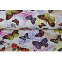 Bavlněná látka s motýlky