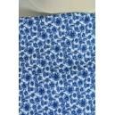 Krepová modrobílá šatovka s květy