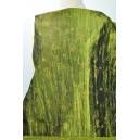 Taft zelený vyšívaný